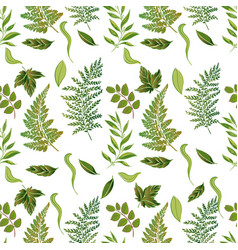 forest grassy seamless pattern vector image vector image