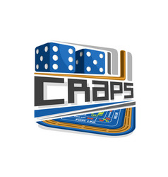 logo for craps gamble vector image