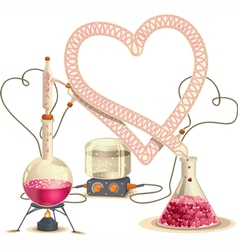 Love chemistry - vector
