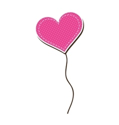 Pink heart balloon vector