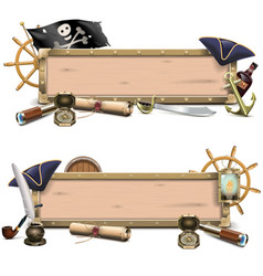 Pirate billboards vector