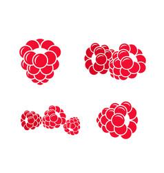 Raspberries icon set vector