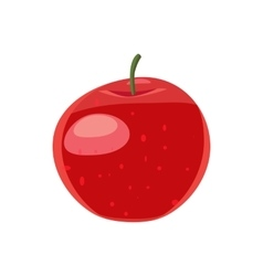 Red apple icon cartoon style vector image