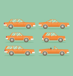 Set of cars flat style vector