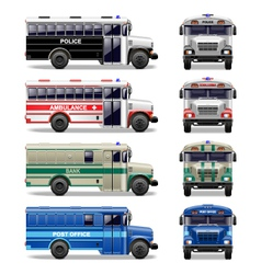 special bus icons vector image