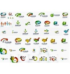 Speech bubble and arrows logo set vector image vector image