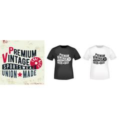 t-shirt print vintage design vector image vector image