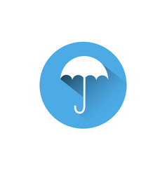 umbrella icon blue round on white background vector image vector image
