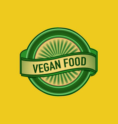 vegan food sign vector image