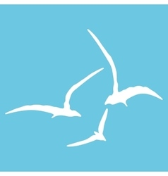 Gull sign pattern vector
