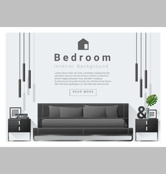 Modern bedroom background interior design 6 vector