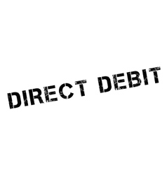 Direct debit rubber stamp vector