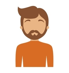 Character man bearded hairstyle vector