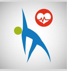 Healthy lifestyle design bodycare icon isolate vector