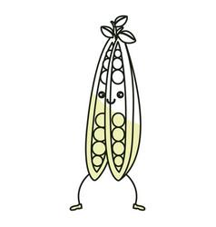 String bean fresh vegetable kawaii character vector