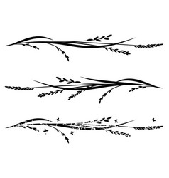 Set of dividers with rice vector