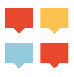 Different colored talk clouds vector