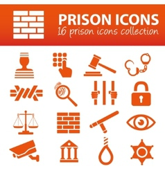 Prison icons vector
