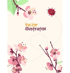 Spring with flower vector