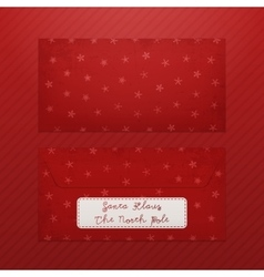 Realistic christmas envelope template for santa vector