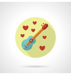 Love melody icon flat style vector