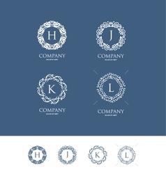 Alphabet letter flower monogram logo vector
