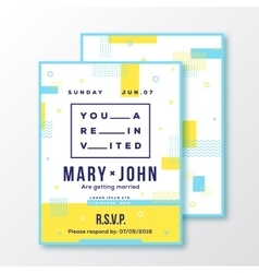 Wedding event party invitation card or poster vector