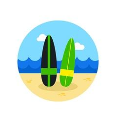 Surfboard icon summer vacation vector
