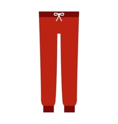 Cartoon red pants vector