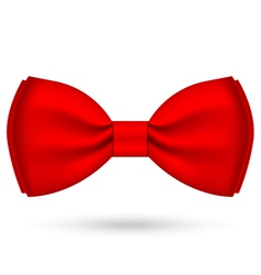 red bow-tie vector image
