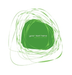 Abstract green frame vector image