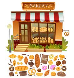 Bakery shop facade vector