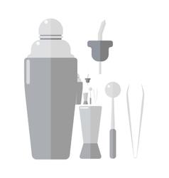 Barmen drinks shaker vector image