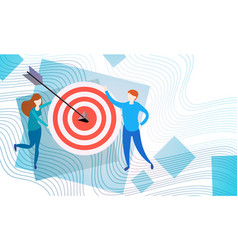 Business people with target aim strategy success vector
