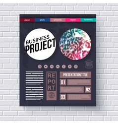 Business project infographic design template vector
