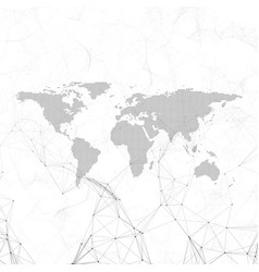 chemistry pattern dotted world map connecting vector image