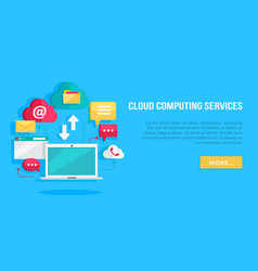 cloud computing services banner vector image vector image