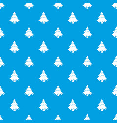 Coniferous tree pattern seamless blue vector