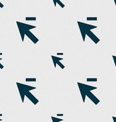 Cursor arrow minus icon sign seamless abstract vector