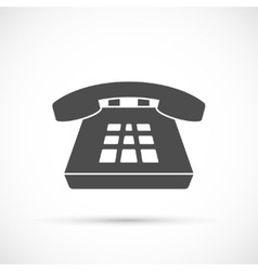 Desk phone icon vector image