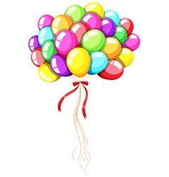 Different color balloons with string vector image vector image