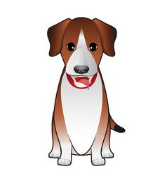 Dog terrier sitting vector