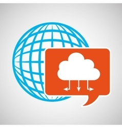global web network cloud icon vector image vector image