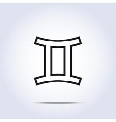 Horoscope sign of the zodiac - gemini vector