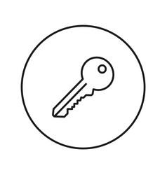key icon line vector image