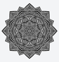 mandala ornament circular monochrome pattern vector image vector image