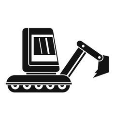 Mini excavator icon simple vector