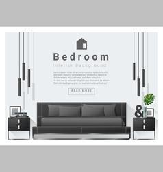 Modern bedroom background interior design 6 vector