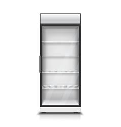 Modern vertical refrigerator for isolated vector image