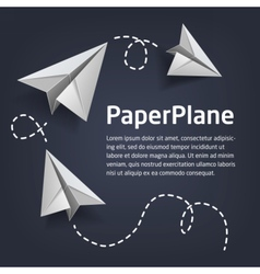 PaperPlaneBanner vector image